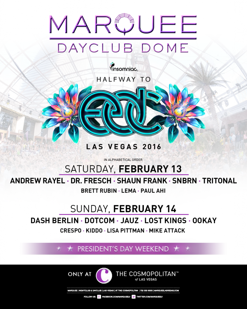 Halfway to EDC 2016 lineup graphic