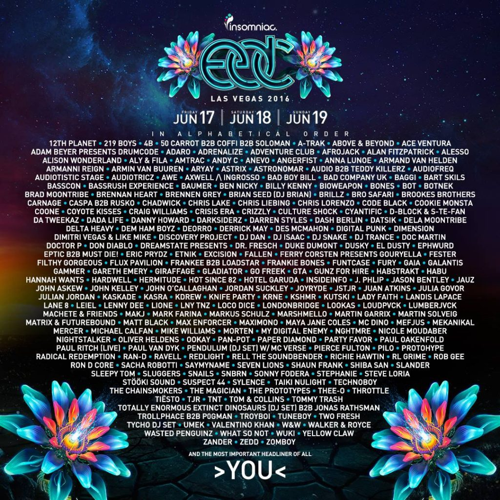 EDC 2016 lineup